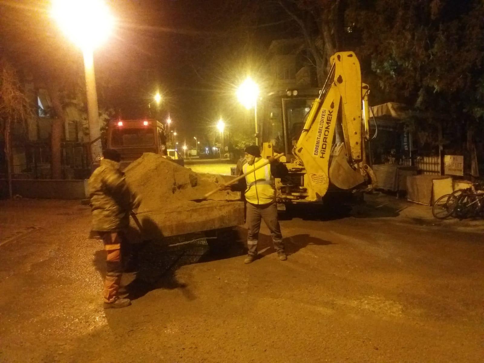 Edremit Belediyesi 24 Saat Görev Başında
