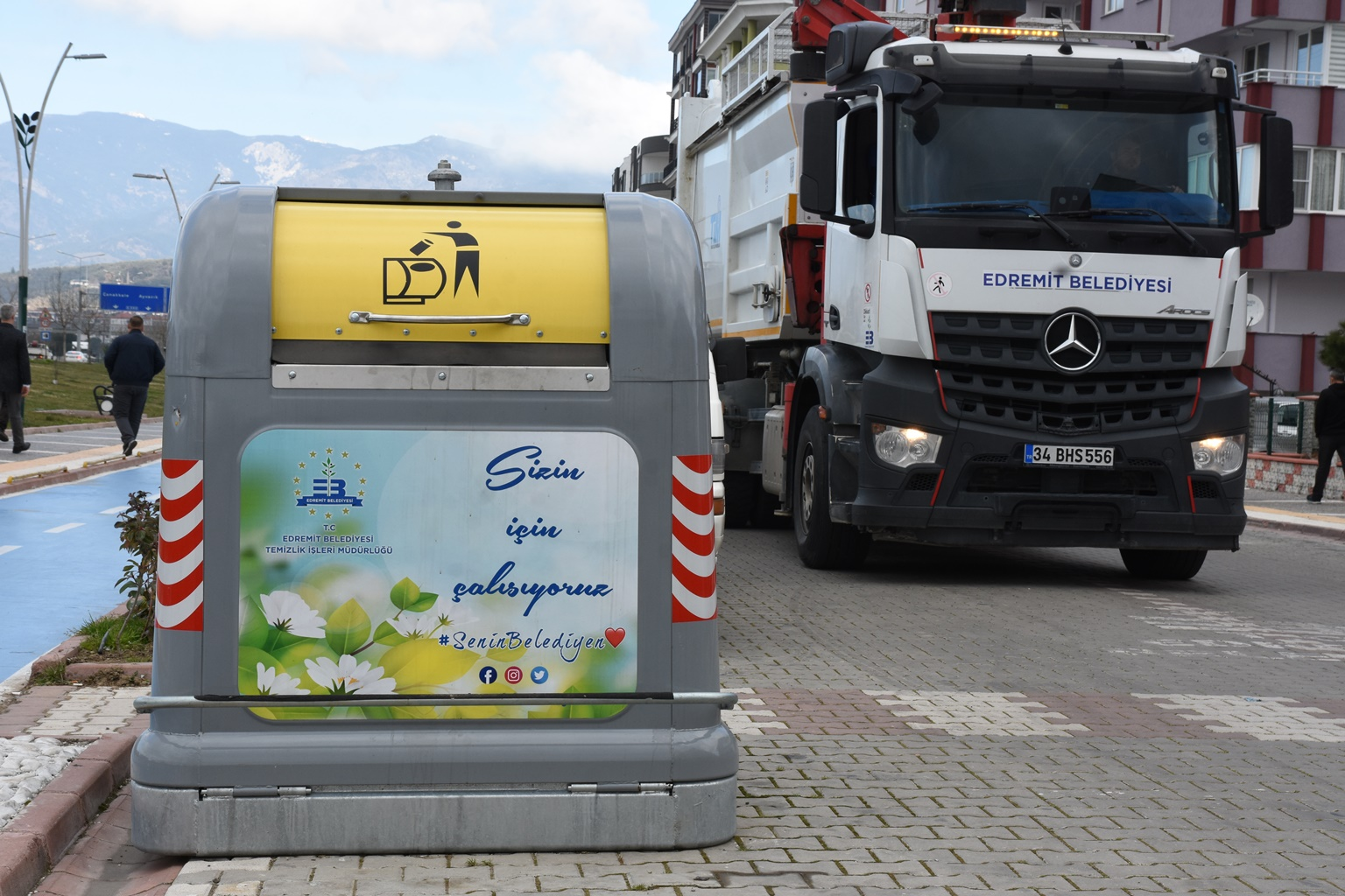 Edremit'te Yeni Nesil Çöp Toplama Dönemi
